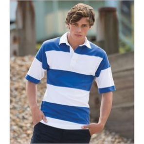 FR9 Front Row Short Sleeve Sewn Stripe Rugby Shirt